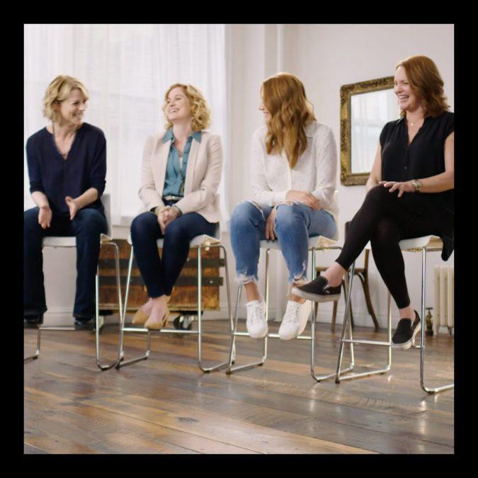 screenshot - Dear Evan Hansen moms - Lisa Brescia - Christiane Noll - Jessica Phillips - Jennifer Laura Thompson
