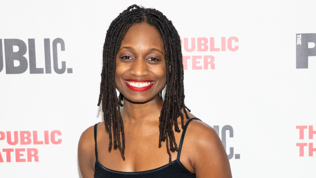 Playwright Aleshea Harris of What to Send Up When It Goes Down at the Opening Night of The Public's 16th annual Under the Radar Festival on Wednesday